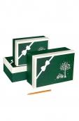 Коробка карт.  Элеганс - зеленый с кремовым 1  17*12*7см