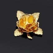 Металлическая подвеска Цветок 20мм цв. золото