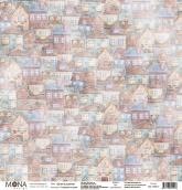 """Лист """"Дома и домики"""" Городские истории 190 гр 30,5х30,5 см"""