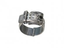 Ремешок Бол. (Кольцо) Покрытие: Черненое серебро Вставка: Кристалл Swarovski Цвет вставки: Белый Разм 19