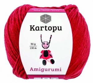 Пряжа Amigurumi 50г 130 м красный