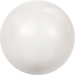 """Бусина стеклян """"Сваровски""""   5810   8 мм  10 шт  под жемчуг   кристалл белый (white 650)"""