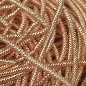 Канитель мягкая, гладкая глянец, цв.розовое золото 1мм уп.10 г