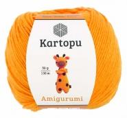 Пряжа Amigurumi 50г 130 м свелый апельсин