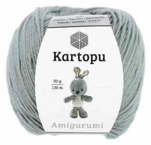 Пряжа Amigurumi 50г 130 м светло-серый