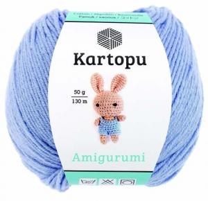 Пряжа Amigurumi 50г 130 м нежно-голубой