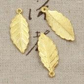 Металлическая подвеска Лист 31*12мм цв. золото