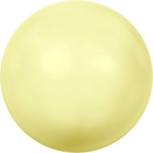 "Бусина стеклян ""Сваровски"" 5810 6 мм 5 шт под жемчуг  кристалл нежно-желтый (yellow 945)"