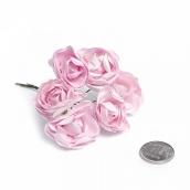 Цветы бумажные  цв.розовый уп.6шт
