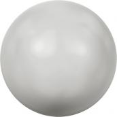 """Бусина стеклян """"Сваровски"""" 5810 6 мм 5 шт под жемчуг  кристалл нежно-серый (grey 968)"""