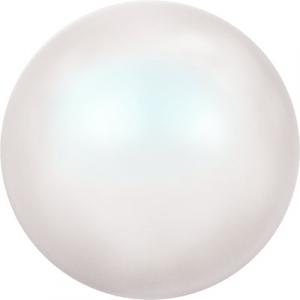 "Бусина стеклян ""Сваровски"" 5810  8 мм 1 шт  под жемчуг кристалл белый перламутр (PEWHP 969)"