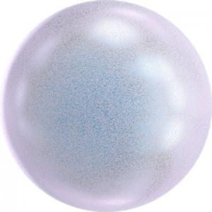 "Бусина стеклян ""Сваровски"" 5810 радуж  4 мм  5 шт под жемчуг  кристалл голубой перламутр (irid. dreamy blue 2026)"