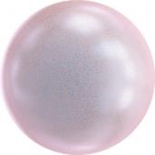 """Бусина стеклян """"Сваровски"""" 5810 радуж 8мм 1шт под жемчуг  кристалл розовый перламутр (irid. dreamy rose 2025)"""