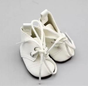 Ботиночки бел. кожзам высокие 5см