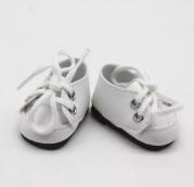 Ботинки бел. кожзам 5*2,8см