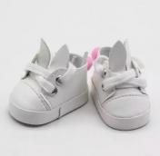 Ботинки бел. Зайки 5*2,8см