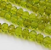 Бусины стекло 3*4мм цв.зелень 145шт. прозрачн
