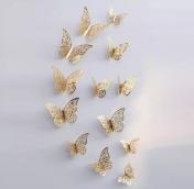 Набор бабочек 12 шт. цв. Золото ветки