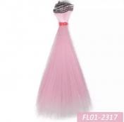 Трессы 15*100см прямые цв.розовый