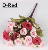 Цветы из ткани, букет  цв. винтажно-розовый 25см