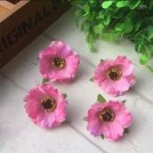 Цветок ткань 4см розовый