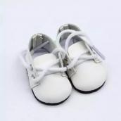 Ботиночки 5см цв. Белый кожзам.
