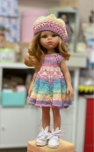 Платье укороч сирен+ берет на куклу Paola Reina