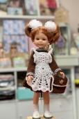 Школьная форма рукав длинный+портфель на куклу Paola Reina