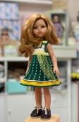 Сарафан зеленый на куклу Paola Reina