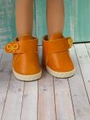 Ботики для куклы оранжевые 5.5 см