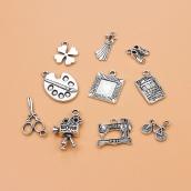 Набор металлических подвесок серебро