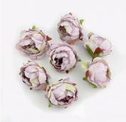 Цветы из ткани сиреневый 5см