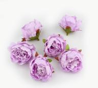 Пион из ткани розовый 5см