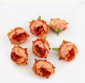 Цветы из ткани цв. оранжевый 5см