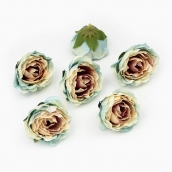 Цветы из ткани цв. голубой 5см