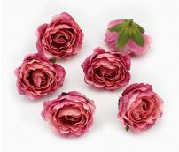 Цветы из ткани цв. фуксия 5см