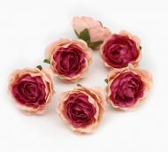 Цветы из ткани цв. персиковый 5см