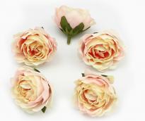 Цветы из ткани цв.нежно-розовый 5см