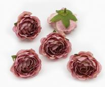Цветы из ткани пыльно-розовый 5см