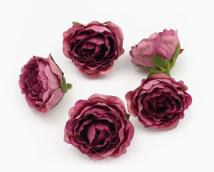 Цветы из ткани цв. бордовый 5см