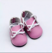 Ботиночки 5см цв. Розовый кожзам.