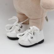 Ботиночки бел. кожзам 2,8*5см