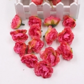 Пион 3,5см  цв.роз-красн ткань