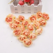 Пион 3,5см цв.роз.-оранж ткань