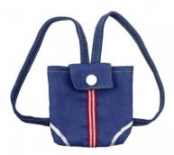 Рюкзак для куклы джинс.