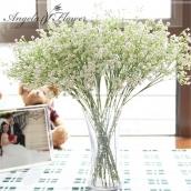 Ветка белых цветов 58см