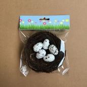 Гнездо с яйцами 10см+5 яиц