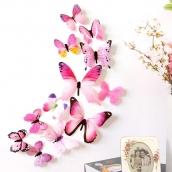 Набор бабочек 12 шт. цв. Роз