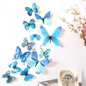 Набор бабочек 12 шт. цв. Голуб.