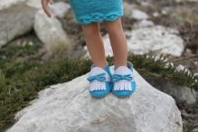 Туфельки 5см (подходят на куклу Paola Reina) цв.бир с белым